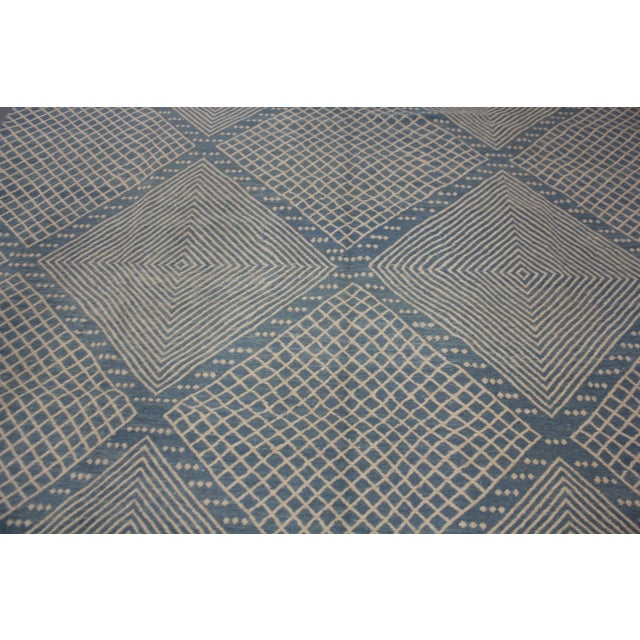 """Aara Rugs Inc. Hand Knotted Modern Kilim - 9'5"""" X 8'4"""" For Sale - Image 4 of 6"""