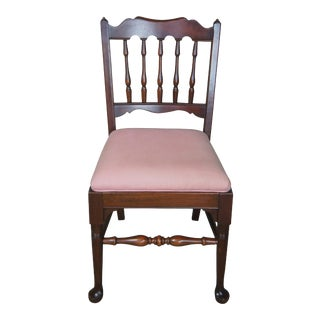 Pennsylvania House Early American Style Solid Cherry Vanity Desk Chair For Sale