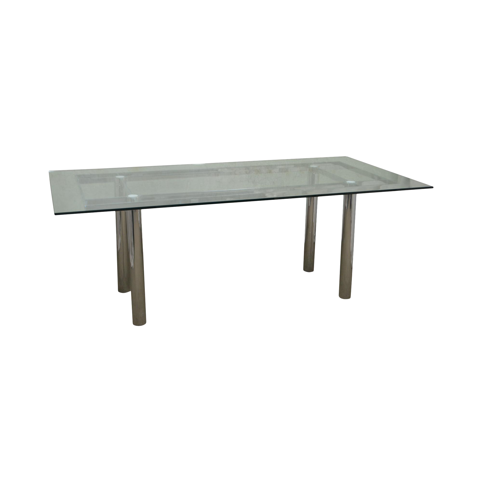 rectangular glass top dining table wood mid century modern chrome base rectangular glass top dining table