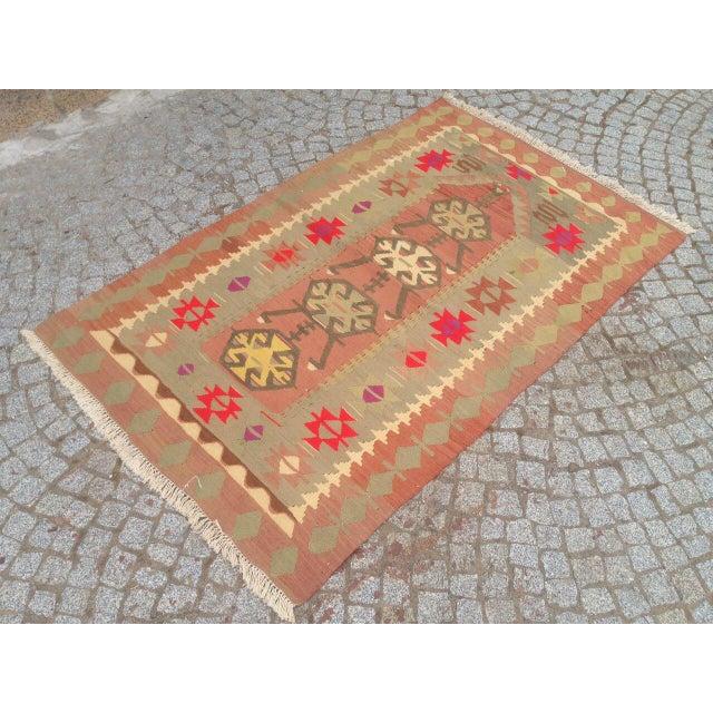 """Vintage Anatolian Oyshak Rug -- 3' x 4'11"""" For Sale - Image 6 of 6"""