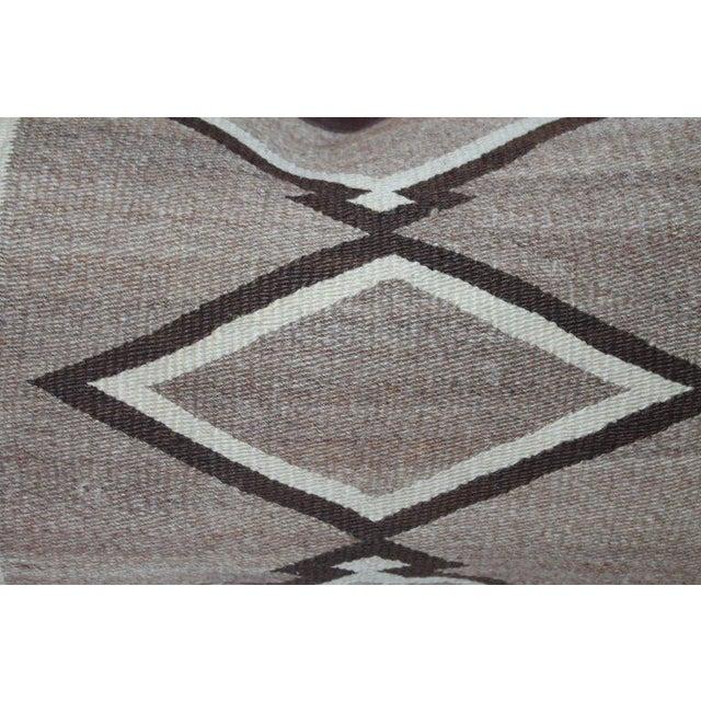 Navajo Indian Weaving Diamond Bolster Pillow For Sale - Image 4 of 6