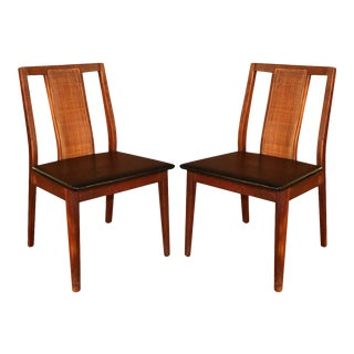 Pair Mid Century Chairs in the Style of Edward Wormley For Sale