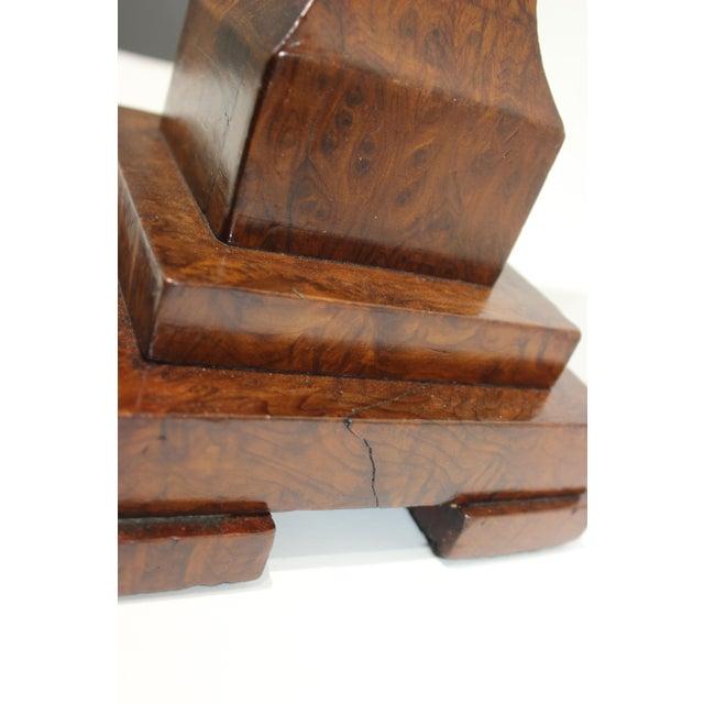 Biedermeier Table Lamp Exotic Wood Assemblage For Sale - Image 11 of 13