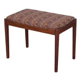American Modern Walnut Bench For Sale