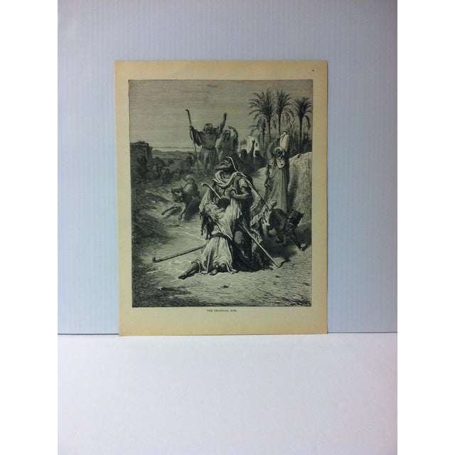 """Antique Gustave Dore' Illustrated Print on Paper """"The Prodigal Son"""" 1901 For Sale - Image 4 of 4"""