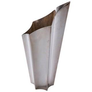 """""""Alaska"""" Silver Plated Vase by Lino Sabattini for Sabattini For Sale"""