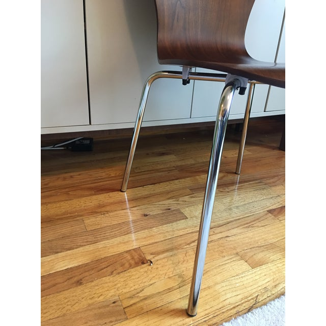 West Elm Scoop Back Chairs - A Pair - Image 6 of 6