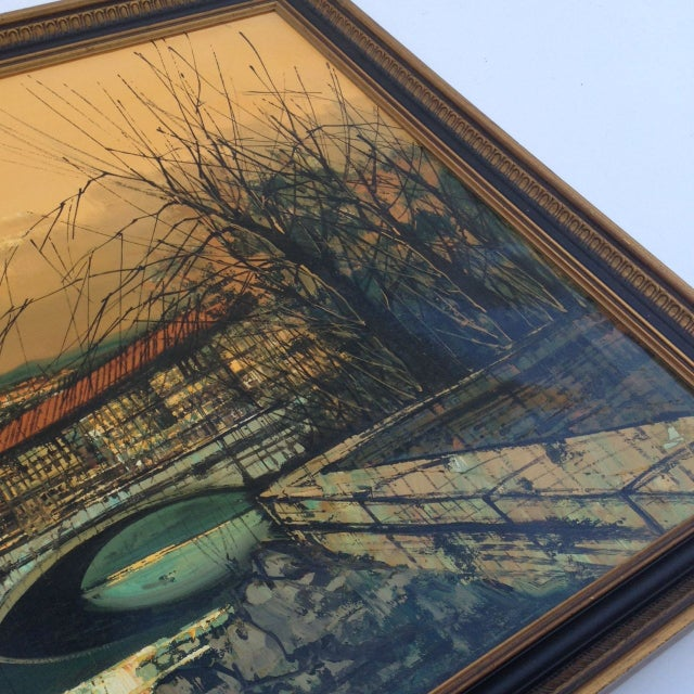 Len Yini Mid-Century Oil on Canvas** For Sale In Atlanta - Image 6 of 6
