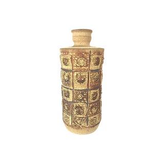 1960s Mid-Century Modern Brutalist Yellow Stoneware Vessel
