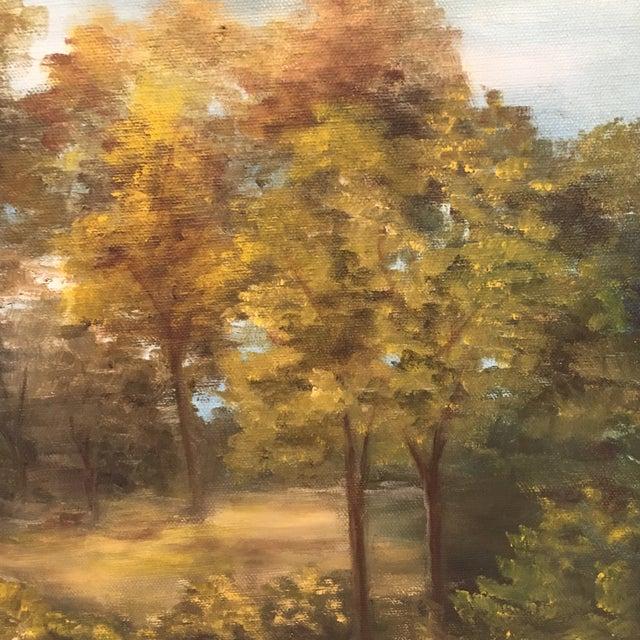 Wooden Framed Landscape Oil Painting - Image 4 of 7