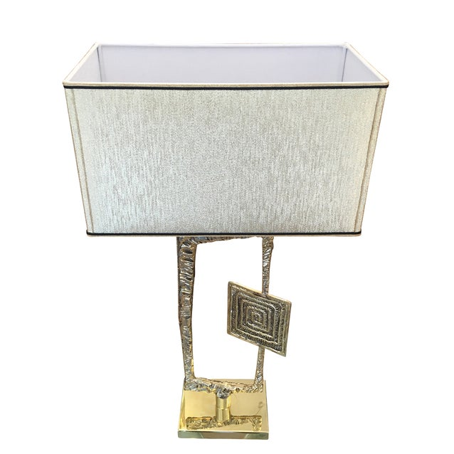"1960s Sculptural Cast Bronze ""Tea"" Table Lamp by Esperia For Sale - Image 5 of 6"
