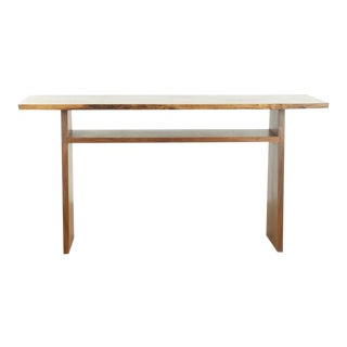Contemporary Nakashima Aull Walnut Console Table For Sale