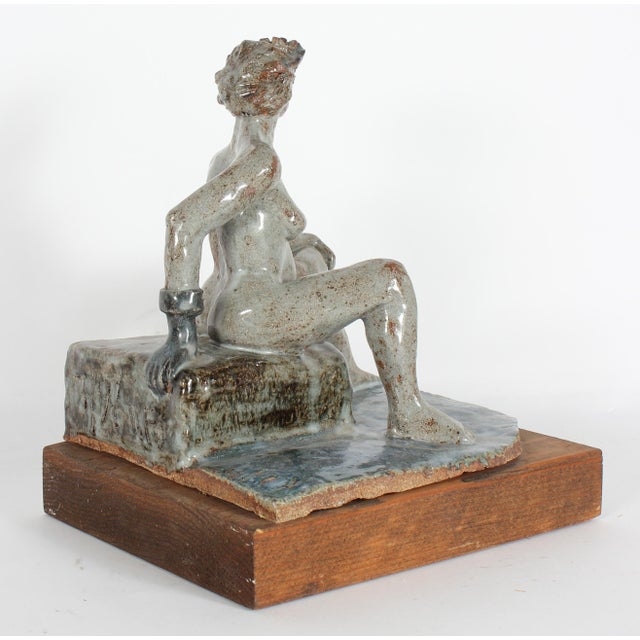 1997 Clay Figure Sculpture by David Fox - Image 3 of 3