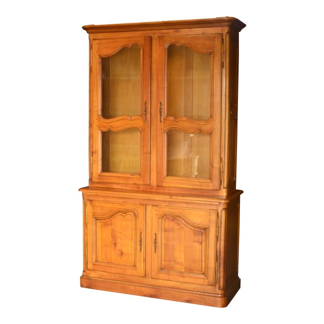 French Cherrywood & Glass Bookcase - Image 1 of 10