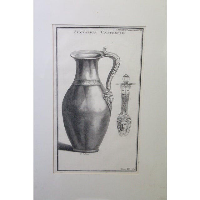 Neoclassical Early 18th Century Antique Urns and Vases of Ancient Times Engraving Print For Sale - Image 3 of 7