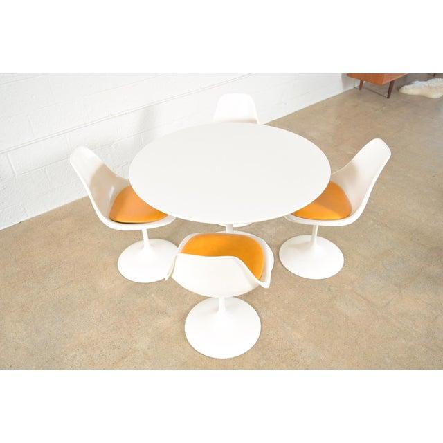 Mid-Century Saarinen Style Tulip Pedestal Dining Set - Set of 5 - Image 5 of 11
