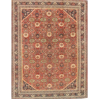 "Modern Pasargad Antique Mahal Lamb's Wool Area Rug- 10' 3"" X 13' 6"" For Sale"