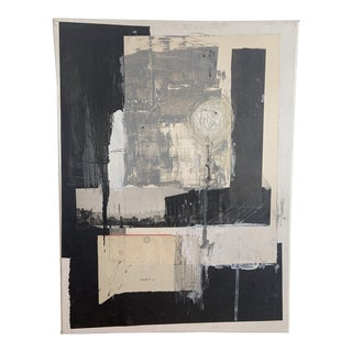 Contemporary Minimalist Abstract Mixed-Media Painting by Ross Severson For Sale