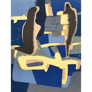 1966 XX Siecle Mourlot Maurice Esteve Face a Face Lithograph For Sale