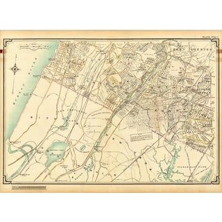 1908 Map of Bronx, Mt. Vernon & Yonkers, NY For Sale