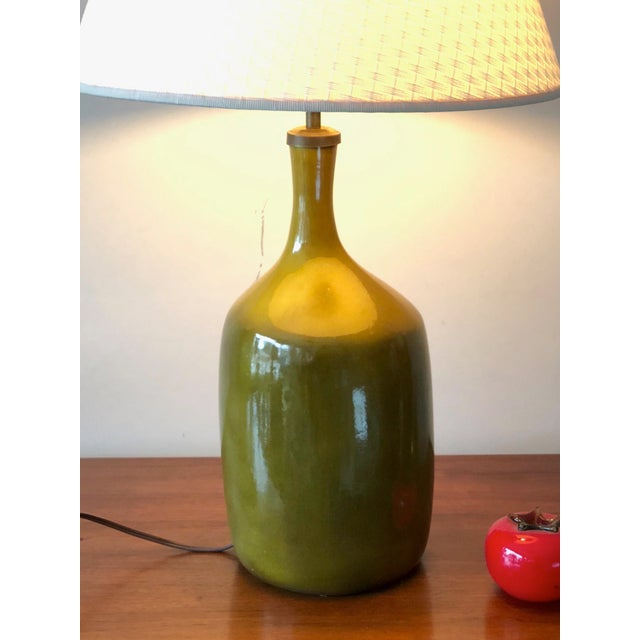 1960s Vintage Jacques & Dani Ruelland Ceramic Lamp For Sale - Image 4 of 12