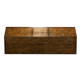 HENREDON Artefacts Campaign Style King Storage Headboard