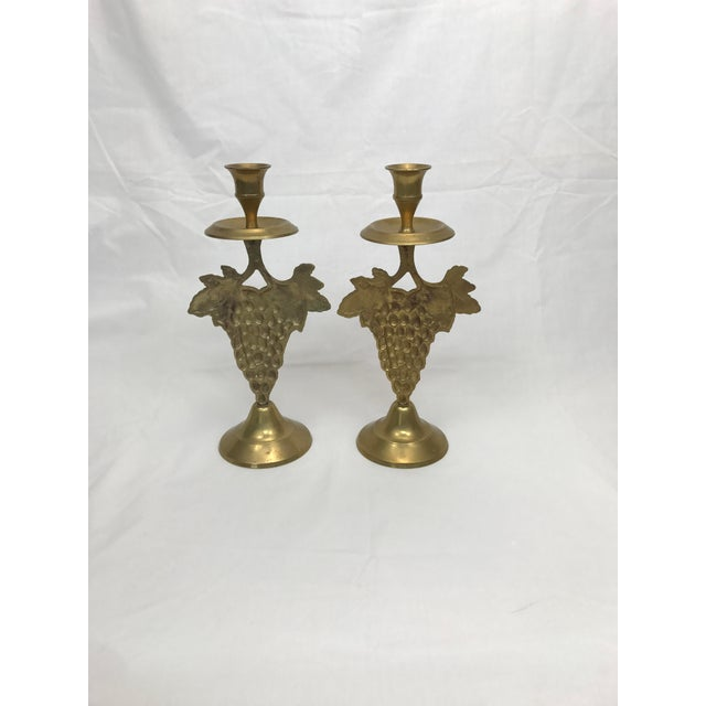 Portuguese Terra Cotta Serving Set W/Matching Candleholders - Image 9 of 9