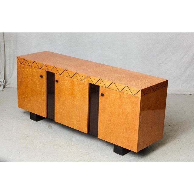 Memphis Pace 'Boca' Collection Memphis Style Inspired Lacquered Credenza For Sale - Image 3 of 9