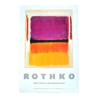 Vintage Original 1970s Mark Rothko Modern L. A. Art Museum Exhibition Print For Sale