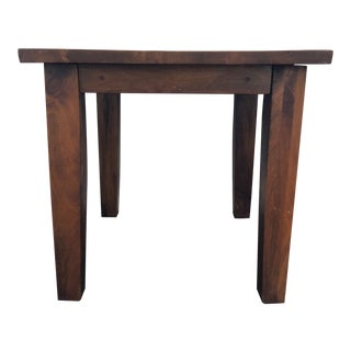 Arts and Crafts Wood Plank Side Table For Sale