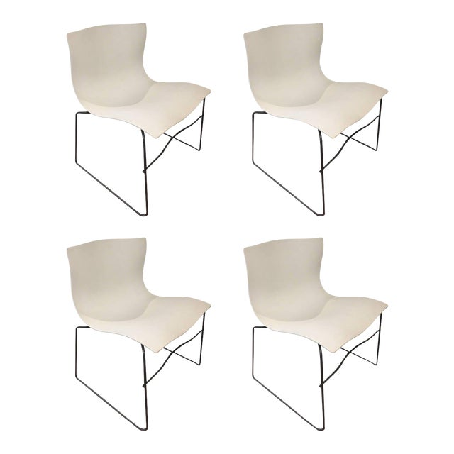 White Knoll Handkerchief Chairs - Set of 4 - Image 1 of 5