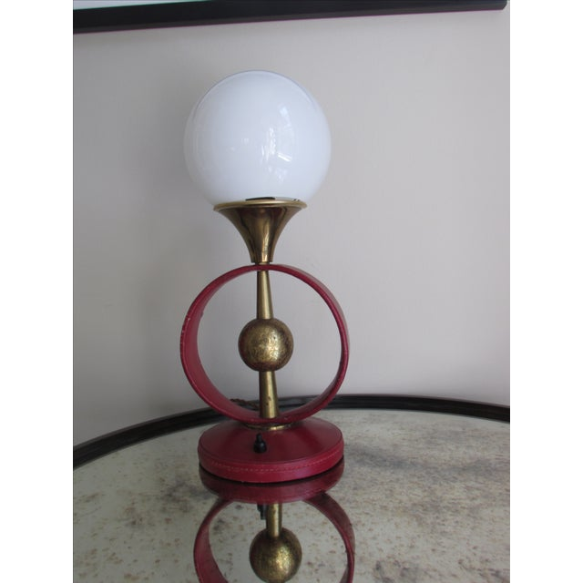 Mid-Century Modern Jacques Adnet Attributed Lamp For Sale - Image 3 of 7