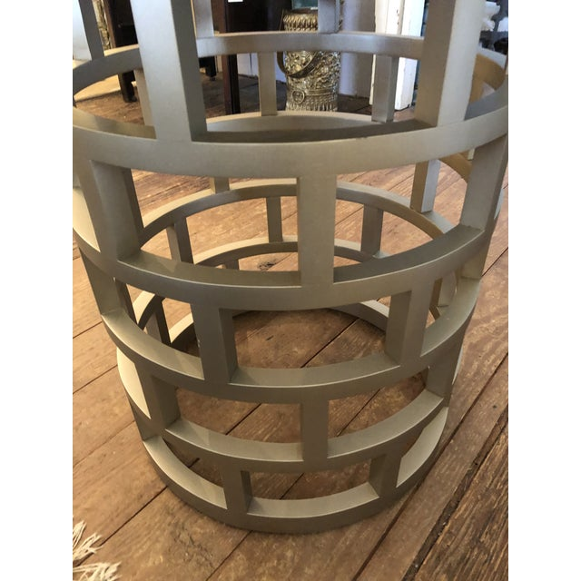 Silver Contemporary Side Table For Sale - Image 4 of 8