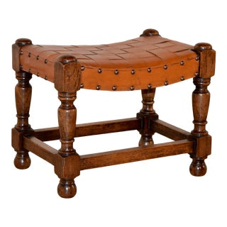 19th C English Swayed Stool For Sale