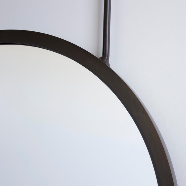 Brass 20in Penny Hanging Mirror For Sale - Image 7 of 8