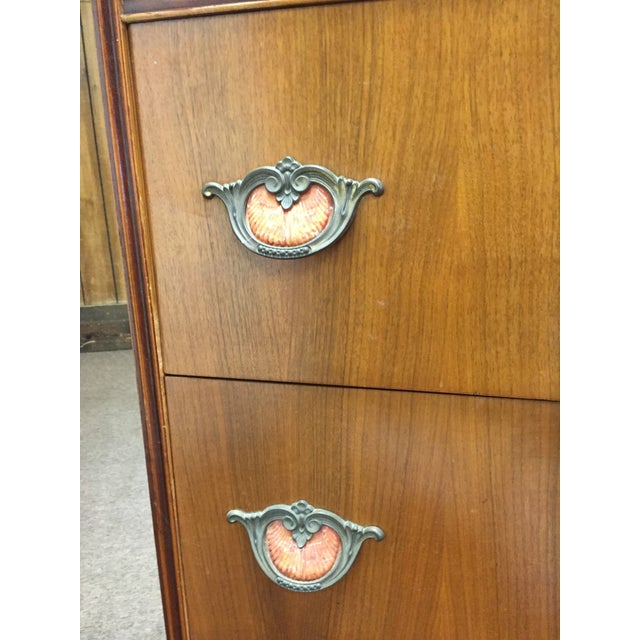Art Deco Tall Dresser with Drawers - Image 9 of 11