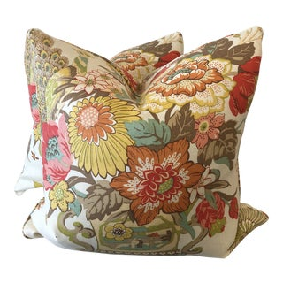 """Portobello Vase"" in Buttercup 22"" Pillows-A Pair For Sale"