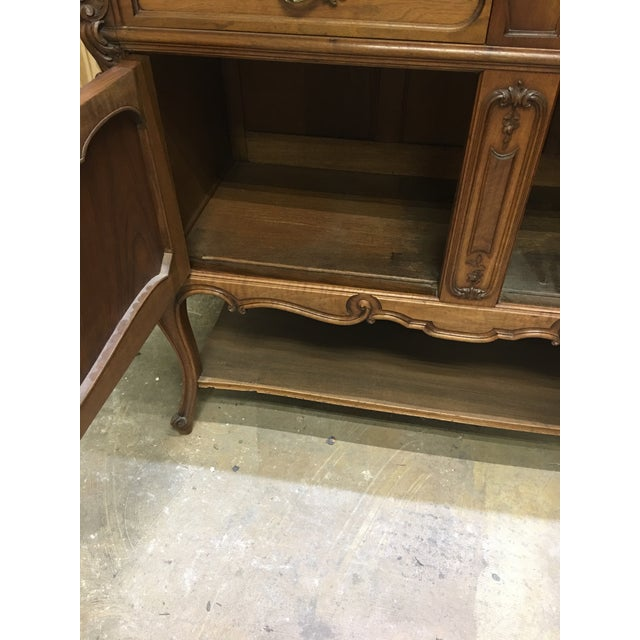 19th Century French Server Sideboard Hand Carved With Marble Top For Sale - Image 9 of 11