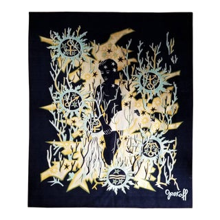 Sagitarian Zodiac Signs Themed Tapestry by Elie Grekoff, France, 1960s For Sale