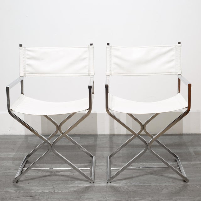 ABOUT Price is for the pair. A set of matching Virtue Brothers mid-century modern original directors style chairs. The...