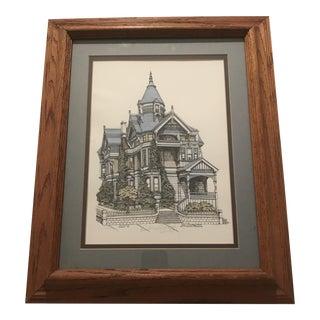 "Framed ""Haas-Lilienthal House/San Francisco"" Print"