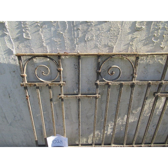 Traditional Antique Victorian Iron Gate Window Garden Fence Architectural Salvage Door #025 For Sale - Image 3 of 6