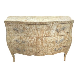Italian Louis XV-Style Burl Veneer Bombay Chest For Sale
