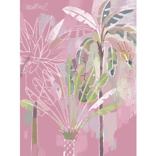"Palm Pink, Giclee Print, Watercolor Paper. 18x24"" For Sale"