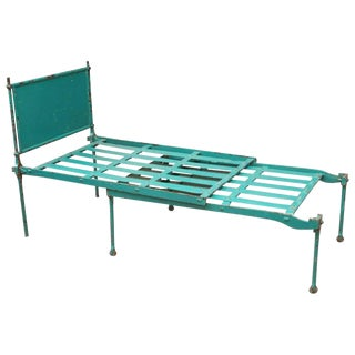*Early 20th Century English Metal Campaign Bed