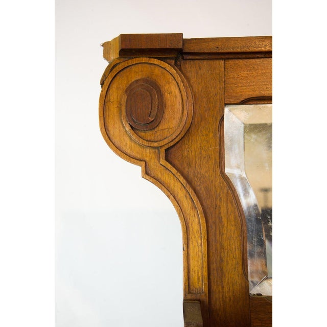 1930s Vintage French Oak Breakfront Display Cabinet For Sale - Image 5 of 10