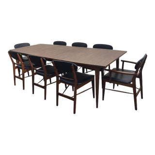 Basic Witz Danish Modern Table & Chairs - Set of 9