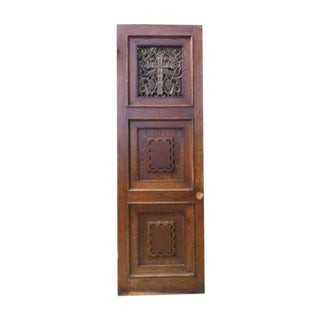 Vintage Confessional Catholic Church Door