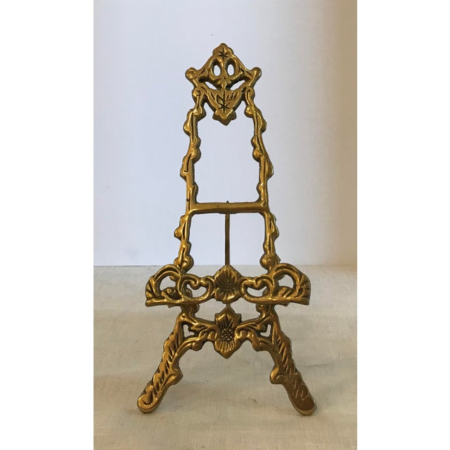 Mid 20th Century Decorative Brass Easel For Sale - Image 5 of 5