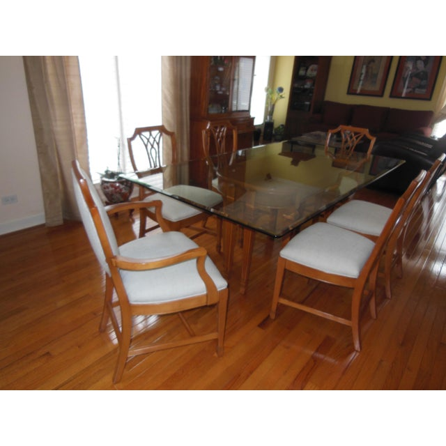 1930's Myrtlewood Dining Table and Chairs (1 of 3 Listings) For Sale - Image 11 of 11